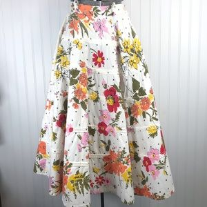 1950s Joyce of Chicago Floral Circle Skirt Pinup
